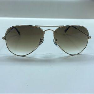 Ray-Ban Accessories - Ray Ban Gold Metal Aviator Sunglasses